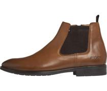 Chelsea Boots, uni, Blockabsatz, flach,