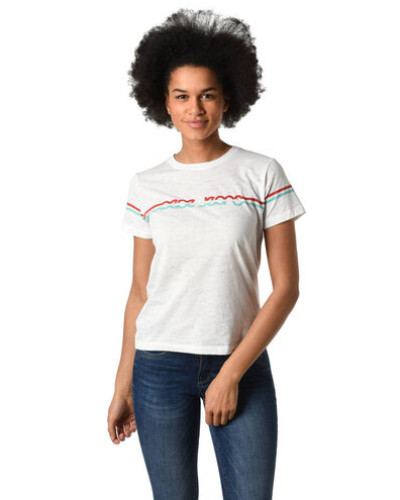 "T-Shirt ""Lola"", Flammgarn, Front-Print, Rundhalsausschnitt"