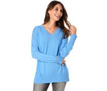 Pullover, V-Ausschnitt, überschnittene Schultern,