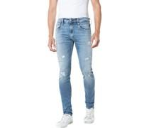 Jeans, Used-Look, Slim,