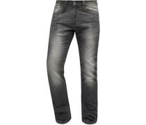 Jeans, 1/1, Regular Fit, 5-Pocket, Stretch, Waschung,