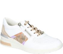 Sneaker, Glitzer, Streifen, Reißverschluss,