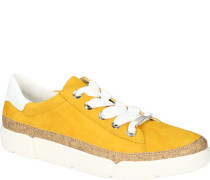 Sneaker, Veloursleder, Kork-Detail, herausnehmbare High-Soft-Sohle,