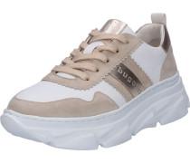 Sneaker, Plateauederetallic-Effekt,
