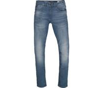 Jeans, 7/8-Länge, Slim Fit, Waschung,