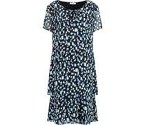 Kleid, Kurzarmini-Länge, Print, Schlüsselloch-Ausschnitt,