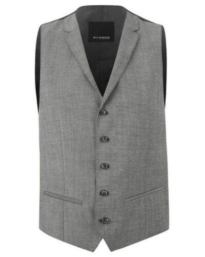 Weste als Anzug-Baukasten-Artikel, Slim Fit, Reverskragen