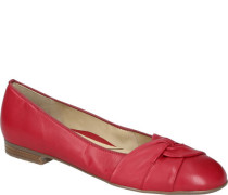 Ballerinas, Knoten-Details, echtes Leder,