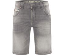 Jeans-Bermudas, Slim Fit, 5-Pocket, Waschung,