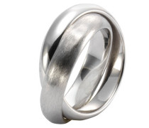 Ring 925/- Sterling Silber zweireihig