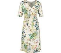 Kleid, Wickeloptik, exotischer Allover-Print,