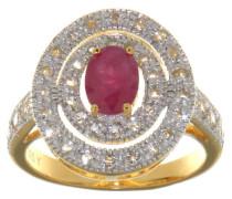 Ring mit Rubin 925 Sterling Silber veret