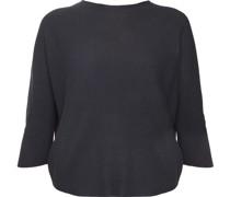 Shirt, 3/4-Arm, uni, strukturiert, Rundhals,