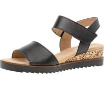 Sandaletteneder, Keilabsatz, Klettverschluss,