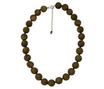 Collier mit Achat-Perlen, gold