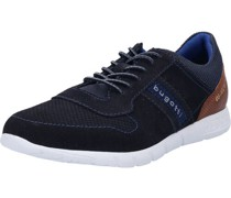 Sneaker, low, Rindsleder, zweifarbig,