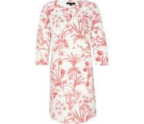 Kleid, Jersey-Crêpe, Allover-Muster, Floral, zweifarbig,