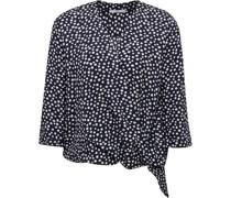 Blusenshirt, Punkte, Wickel-Ausschnitt,