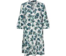 Kleid, kurz, 3/4 Ärmel, Tunika-Ausschnitt, floral gemustert,