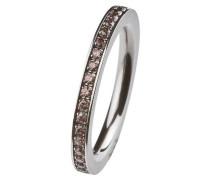 EDvita Ring, Edelstahl, Zirkonia R265.BR