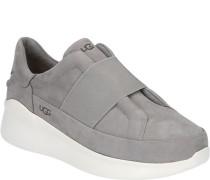 Sneaker, Nubukleder, breite Laufsohle,