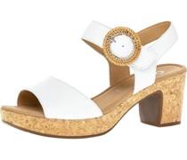 Sandaletten, Glattleder, Korkoptik,