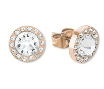 Damen-Ohrringe mit Kristallen IP ROSE, Edelstahl 2015046
