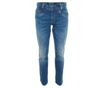 Jeans, Regular Fit, Tapered Leg, Waschung
