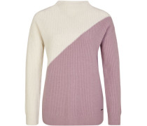 Pullover, Colour-Block-Optik, Wolle-Mix,