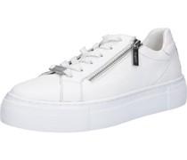 Sneaker, Plateau, Reißverschlusseder, uni,