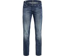 Jeans, 5-Pocket, Regular Fit, Waschungabelabzeichen,