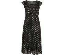 Kleid, Volants, Blattgold-Optik,
