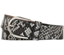 Ledergürtel, 30mm, Animalprint, Tasche,