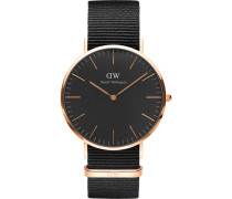 Classic Black Armbanduhr Cornwall, Rose Gold 40 mm DW00100148