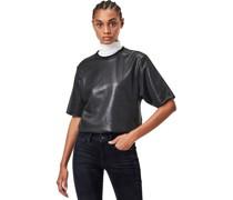 Shirt, Kurzarm, Rundhals, Glanz-Optik,
