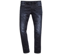 Jeans, Regular Fit, Sitzfalten, Stretch, uni
