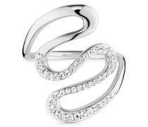 Ring 925/- Sterling Silber rhodinert Topas
