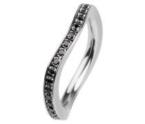EDvita Ring, Edelstahl, Zirkonia R315.BL