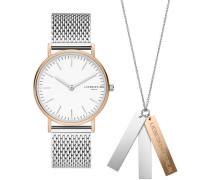 """Geschenk-Set Armbanduhr und Kette """"LS-0062-MQN"""""""