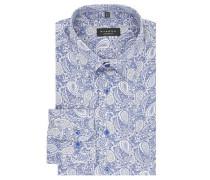 Businesshemd, Comfort Fit, Paisley-Muster, Kent-Kragen