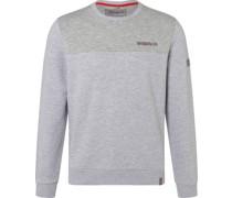 Sweatshirt, Rundhals, zweifarbig,