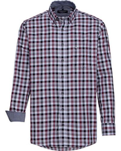 Karo-Freizeithemd, 1/1 Arm, Button-Down, Comfort Fit, dunkelrot
