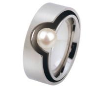 Ring, Edelstahl, Süßwasserperle ø 6 mm R147