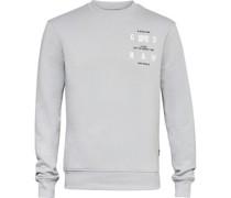 Sweatshirt, Rundhals, Print, Rippblenden,