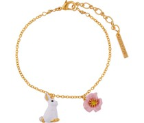 "Armband ""ALRE201/1"", Kaninchen, rosa Blumen,"