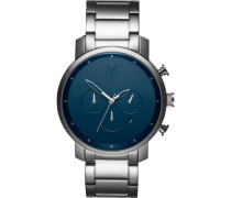 "Armbanduhr ""Midnight Silver"" MC01-SBLU, Chronograph"