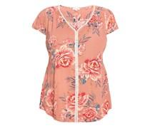 Crinkle-Bluse, 1/2 Arm, floral,