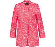 Blazer, Stehkragen, Blumen-Allover-Print, Taschen,