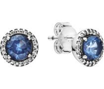 """Ohrstecker Blue Round Sparkle """"296272C01"""", 925er"""