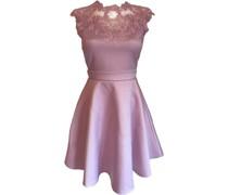 Taft-Kleid, kurz, ausgestellt, Spitze,